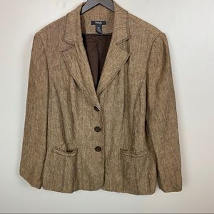 Style and Co. women blazer/ Brown/size 16 W